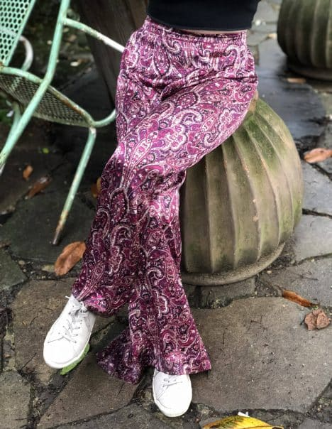Purple Silk Flares